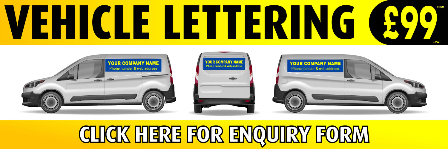 Granthams Signs Vehicle lettering - Special Offer